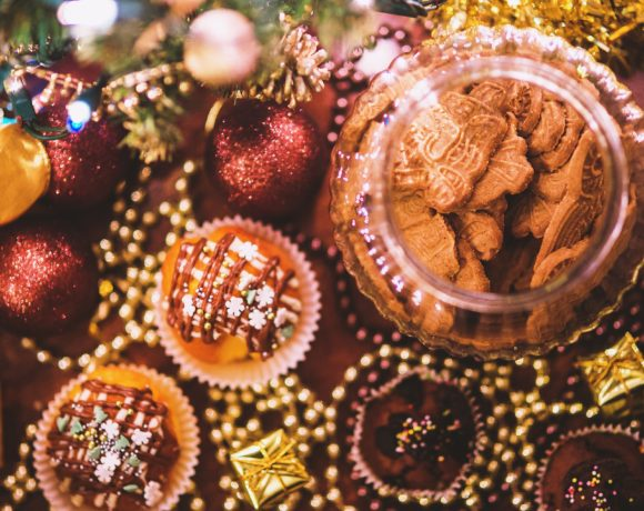 Big cupcake natalizio